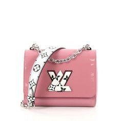 2050eeffd740 Twist Handbag Patent with Limited Edition Reverse Monogram Pm Pink Canvas Cross  Body Bag