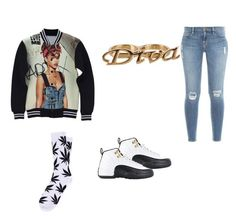 """yess"" by taylarmac ❤ liked on Polyvore featuring Forever 21, TAXI, Frame Denim and HUF"