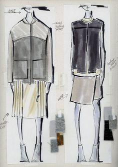 Fashion Sketchbook - fashion design sketches & swatches; fashion student portfolio // Sarah Conlon