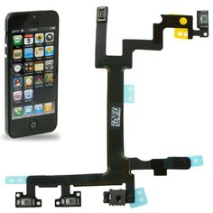 [$1.58] iPartsBuy Original Switch Flex Cable (Power Button Volume and Silent Switch Keypad) for iPhone 5