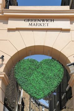 The entrance to Greenwich Market going down Turnpin Lane.