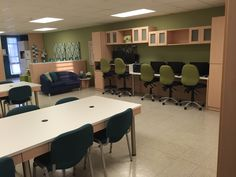 Teachers lounge makeover Made by Karla Furniture Mfg., Puerto Rico