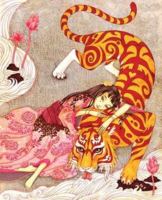 "An image taken from the children book ""Tigre le Dévoué"" (Devoted Tiger) Designed and illustrated by Agata Kawa / HongFei Cultures publisher."