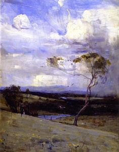 Approaching Storm / oil by Sir Arthur Streeton. I adore this painting. Australian Painting, Australian Artists, Abstract Landscape, Landscape Paintings, Art Moderne, Paintings I Love, Land Art, Land Scape, Tree Art