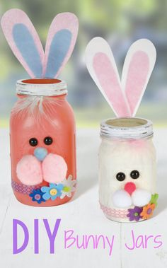 Mason Jar Project -  DIY Bunny Mason Jar
