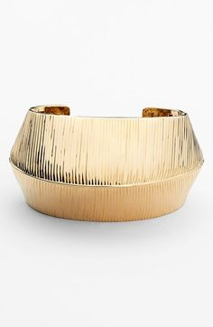 St. John Collection Wide Corrugated Cuff available at #Nordstrom