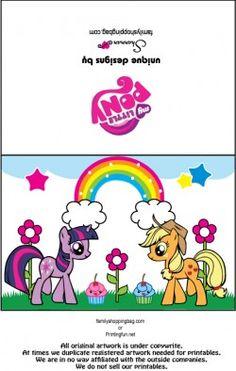{free} printable My Little Pony Card 2