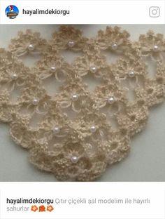 Wedding Cover Up & Scarves, Wedding Shawl, Summer Shawl/Crochet Shawl Triangle / Wedding Accessories /Scarf Boho Summer Wrap Unique Crochet, Crochet Motif, Crochet Designs, Crochet Yarn, Crochet Blouse, Crochet Stitches, Crochet Patterns, Hand Embroidery Dress, Crochet Shawls And Wraps