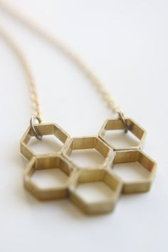 ≗ The Bee's Reverie ≗  Honeycomb Necklace | Another Planet Jewelry