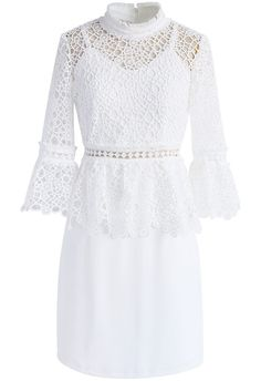 Crochet in Style Dress in White - New Arrivals - Retro, Indie and Unique Fashion