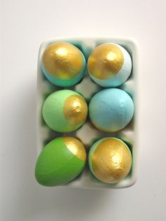 Gold and Pastel Eggs