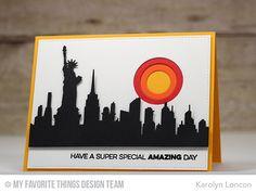 Amazing, Circle STAX Set 1 Die-namics, New York Skyline Die-namics - Karolyn Loncon  #mftstamps