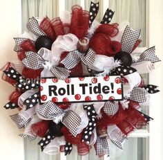 Bama themed wreath by www.southerncharmwreaths.com
