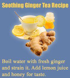 Ginger tea recipe- lemon and ginger good for weight loss