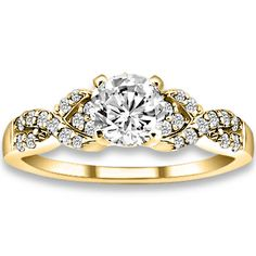 0.74 ctw 14k YG Natural H-I Color, SI Clarity, Accent Diamonds Engagement Ring http://www.pricepointshop.com/product.asp?idproduct=18982