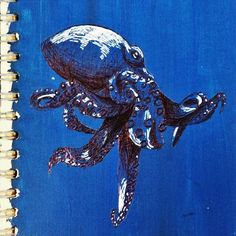 Saw a story, someone wanted octopuses! 🐙 #happycamper #octopus #blue #drawing #ink #pen #sketch #sketchbook #doodle #art #artistsoninstagram #draw #dailydrawoff #underthesea #artpalooza #arts_help #arts_gate #creativeuprising #bestartpage #doodlesofinstagram #vscocam #vsco #instagram #instadaily #instartsharess #spotmesisters #indianartist #keepitsimple #supportart #illustration