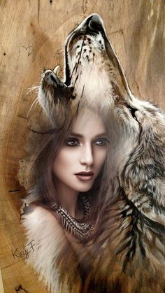 DIY Beautiful Wolf Crafts,Activities,Gifts & Decor,H… - Thanksgiving Wallpaper Native American Wolf, Native American Pictures, Native American Artwork, American Indian Art, Fantasy Kunst, Fantasy Art, Dark Fantasy, Wolf Craft, Wolves And Women