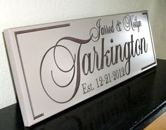 Wedding Name Sign with Established Date Bridal by CustomSignworks