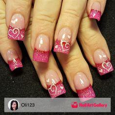 Valentines by Oli123 via Nail Art Gallery #nailartgallery #nailart #nails #handpainted