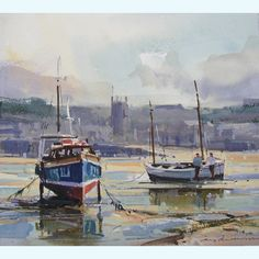 Artist: Ray Balkwill; Title: Quiet Anchorage St Ives; Medium: Mixed Media.