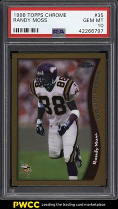 e7db6b500a9 1998 Topps Chrome Randy Moss ROOKIE RC  35 PSA 10 GEM MINT (PWCC)  PSA10   sportscards  collecting