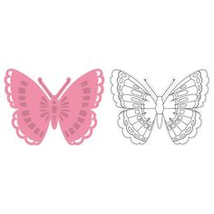 Marianne Design Collectables Cutting Dies & Clear Stamps - Tiny's Butterfly 1