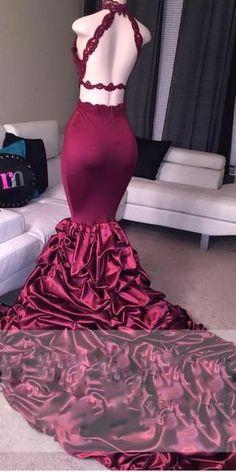 red open back mermaid prom dresses,long cheap prom prom dresses 2017 Prom Dresses 2017, Prom Outfits, Mermaid Prom Dresses, Cheap Prom Dresses, Prom Looks, Classy Dress, Beautiful Gowns, Dream Dress, Pretty Dresses