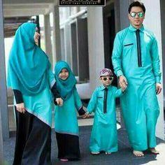 Matching hijab family