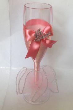 Taça Acrilica Debutante Rosa