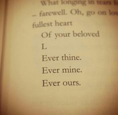 Ever thine ever mine ever ours.   Beethoven   Sex & The City scene