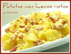 Patatas con huevos rotos y chorizo (THX)