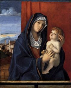 Giovanni Bellini (Italian, Venetian, ca. 1431/6, active by 1459, died 1516):  Madonna and Child  (started 1485, completed 1490)