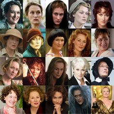 Meryl Streep's 19 Oscar-nominated roles—all in one grid.