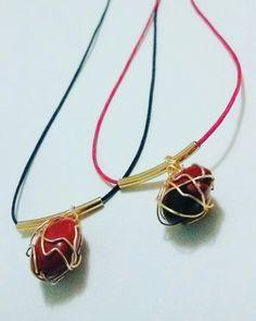 Collar hilo semilla Huyruro - Pionia Collar, Pendant Necklace, Jewelry, Fashion, Moda, Bijoux, Jewlery, Fasion, Jewels