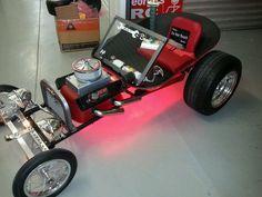 Custom Wagon from a wheel barrow body into a T-Bucket, one nice job...