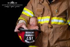 Fireman and his newborn!