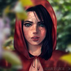 """wasn't really sure what I was going for , first it was a headscarf and then it became a hood so maybe its a """"design"""" for little red riding hood x'D but that wasn't really the plan xD wh..."""