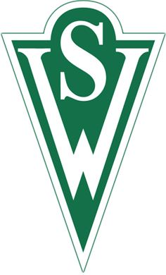 Santiago Wanderers of Chile crest. Soccer Logo, Soccer Teams, Image Foot, Physics And Mathematics, Team Mascots, Great Logos, Crests, Team Logo, Letters