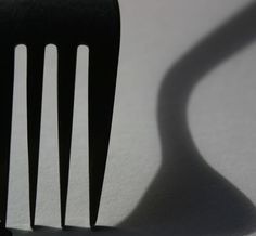 Abstract Art Painting Ideas: Fork Shadow