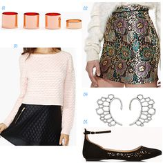 These are 3 fashion look ideas with skirts!
