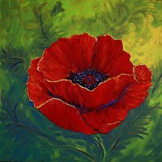 """Large Red Poppy"" - by Diane Funderburg Deam"