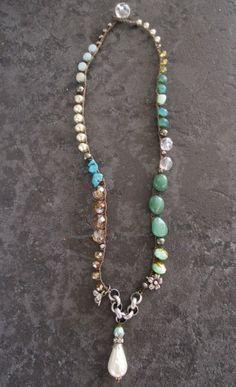 Boho perla collana  crochet Boemia Belle  cottage country