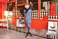 The Fornasetti showroom in Italy via spaziofornasetti.com