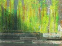 Abstract painting and rust on metal Stephane Rupp