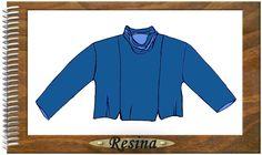 Designer Patterns f. Sweatshirt Resina Gr.  S