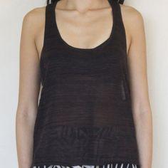 Black Knit Racerback Tank BRAND NEW, UNWORN. Black knit racerback tank. Fit: true to size. 100% Acrylic. Sizes S, M, and L available. Kerisma Tops Tank Tops