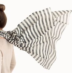In love with this striped scarf. | $88.00 | #serenaandlily