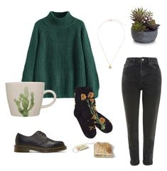 """""""a succulent cup of tea"""" by elif-ersk on Polyvore featuring Topshop, Elements and Dr. Martens"""