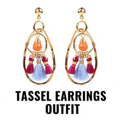 Tassel Earrings Outfit, Drop Earrings, Fashion Jewellery Online, Tassels, Stuff To Buy, Shopping, Design, Drop Earring, Tassel