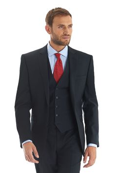 Cerruti cloth navy single breasted two button tailored fit suit jacket in super fine pure wool. Matching trousers available separately. £179 + £100 trouser